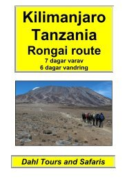 Kilimanjaro, Rongai route 6 dagar - Dahl Safaris