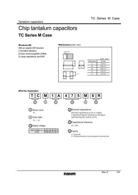 Chip tantalum capacitors - The Designer's Guide Community