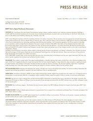 PRESS RELEASE - DIRTT Environmental Solutions