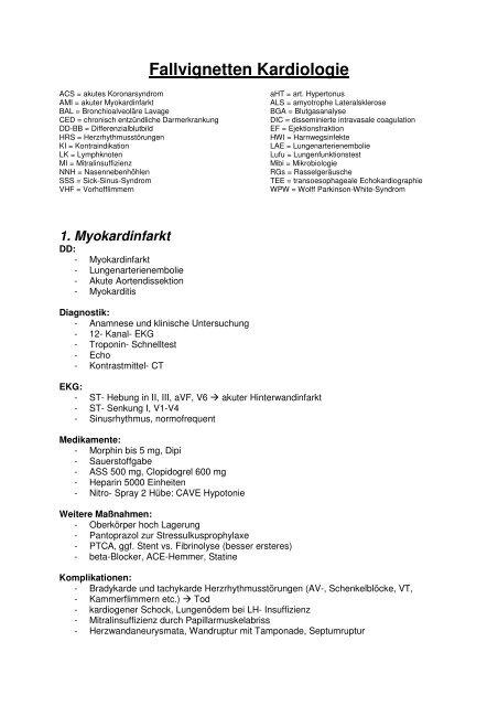 Fallvignetten Kardiologie Fsrmed