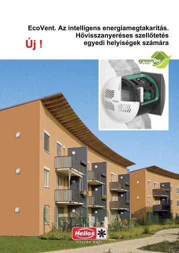 Helios hővisszanyerős szellőzőrendszerek kiegészítői EcoVent H ...
