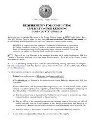 2012 Rezoning Application - Community Development - Cobb County