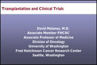 Transplantation and Clinical Trials - CECity
