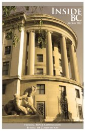 Bureau of Competition User's Guide - Federal Trade Commission