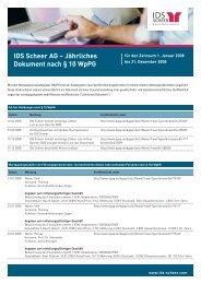 IDS Scheer AG – Jährliches Dokument nach § 10 WpPG - Software AG
