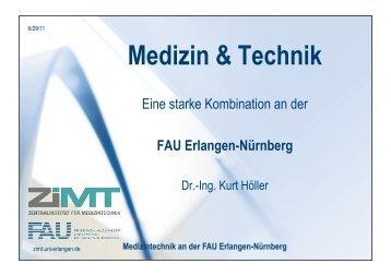 Medizintechnik an der FAU Erlangen-Nürnberg - Zentralinstitut für ...