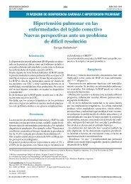 Hipertensión pulmonar en las enfermedades del tejido conectivo ...