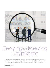 Designing and developing the organization - Oliver Wight Americas