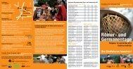 Flyer der Römer- und Germanentage 2013 als PDF-Download