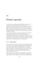 11. poglavje: Primeri uporabe - Univerza v Ljubljani