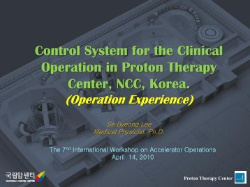O-23 Control System for the Clinical Operation in Proton Therapy ...