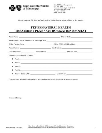 Wellcare Appeal Form Residential Treatment Authorization Request ...