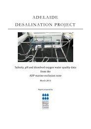 ADELAIDE DESALINATION PROJECT - EPA