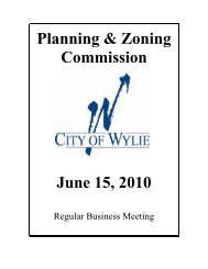 Zoning Board of Adjustments - City of Wylie