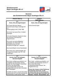Neue Satzung ENTWURF - SV Bayer Uerdingen 08 eV
