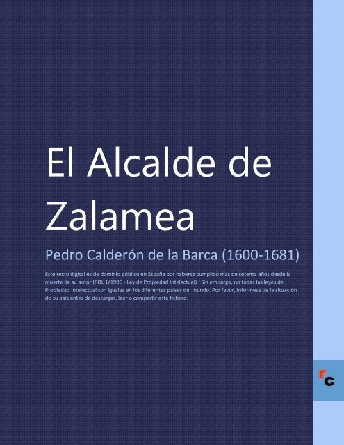El Alcalde de Zalamea - Descarga Ebooks