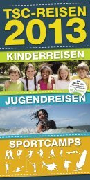 Kinder- und Jugendreisen-Flyer