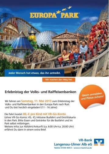 Erlebnistag der Volks- und Raiffeisenbanken - VR-Bank Langenau ...