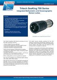 Tritech SeaKing 700 Series - Marine Solutions