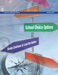 School Choice Options: Florida Continues to Lead the Nation