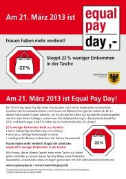 Equal Pay Day-Rallye