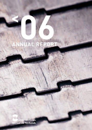 0626.1036 PMT_Annual report06.indd - Pensioenfonds Metaal en ...