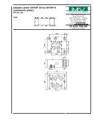 adapter plate CETOP 10 to CETOP 8 - IMAV-Hydraulik GmbH