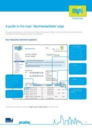 A guide to the myki 'my transactions' page - Public Transport Victoria