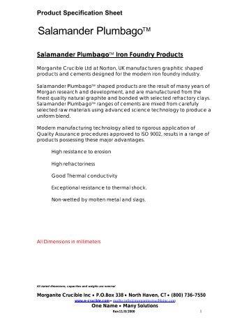 Morganite Crucible - FX Shapes - Inproheat