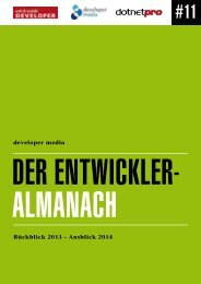 Entwickleralmanach 2013 - Developer Media