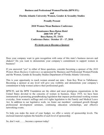 Business and Professional Women/Florida (BPW/FL) and ... - Igenti