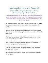 Learning Letters and Sounds: