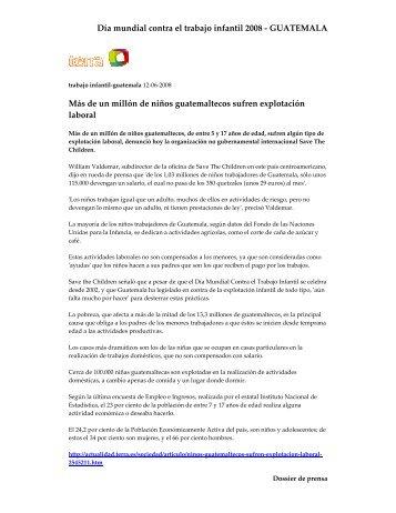 Día mundial contra el trabajo infantil 2008 - GUATEMALA Más de un ...