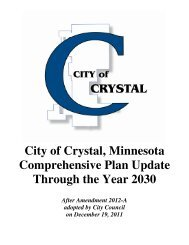 City of Crystal, Minnesota Comprehensive Plan Update Through the ...