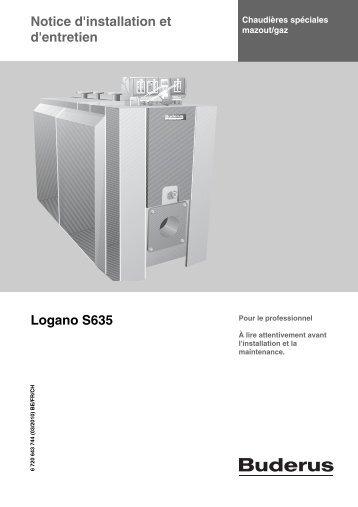 Notice d'installation et d'entretien Logano S635 - Buderus