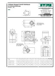 2-Wege-Doppel-Ventil-Gehäuse in ... - IMAV-Hydraulik GmbH
