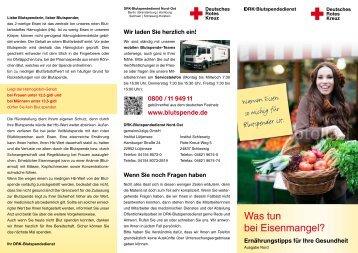 Hamburg und Schleswig-Holstein (297 KB) - DRK-Blutspendedienst ...
