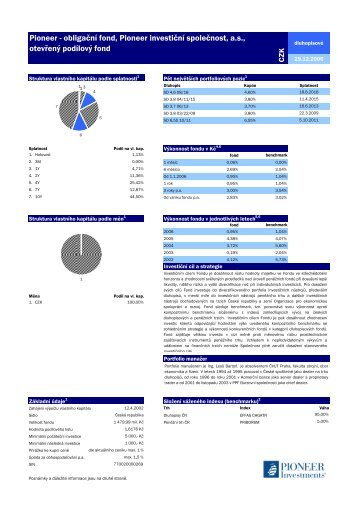 Pioneer obligacni 20061229 - Pioneer Investments
