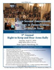5th Annual Right to Keep and Bear Arms Rally - Beaver Valley Rifle ...