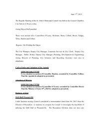 Council Minutes Monday, June 17, 2013 - City of St. John's