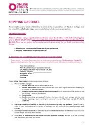 SHIPPPING GUIDELINES - Online Educa Berlin