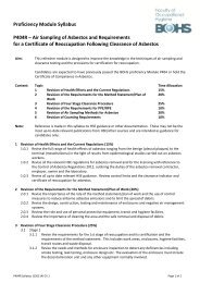 P404R Air Sampling of Asbestos and Requirements for a ... - BOHS
