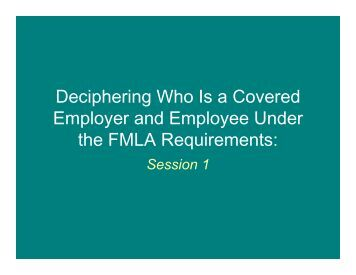 Deciphering Who Is a Covered Employer and Employee Under the ...