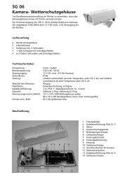 SG 06 Kamera- Wetterschutzgehäuse - Indexa