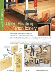 Open Floating Tenon Joinery - gerald@eberhardt.bz