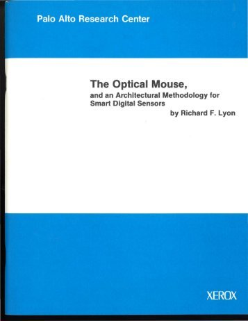 The Optical Mouse, - dicklyon.com : Richard F. Lyon