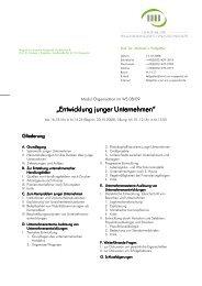 Entwicklung junger Unternehmen WS 0809 - Prof. Dr. Michael ...