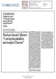 Con la nuova pista aerei a 500 metri sopra il Duomo - Comune di ...