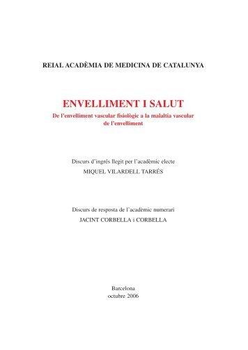 ENVELLIMENT I SALUT - Acadèmia de Medicina de Catalunya