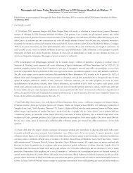 Messaggio di Papa Benedetto XVI - ArezzoGiovani.it